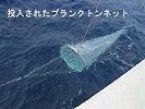 投入されたプランクトンネット