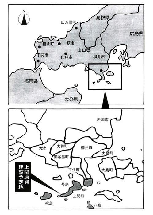 祝島の地図