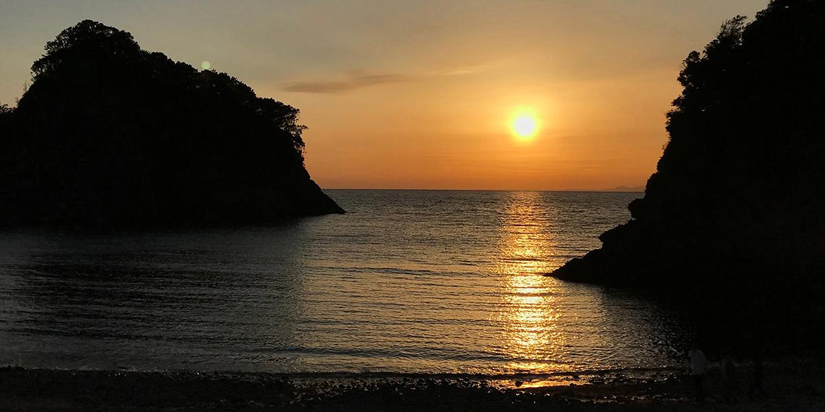 浮島 夕日
